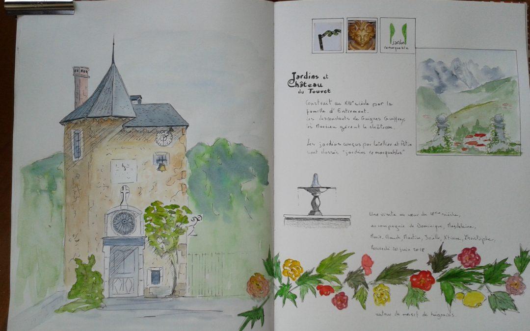 Dans les jardins du château du Touvet