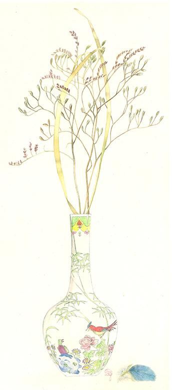 Plante des marais séchée